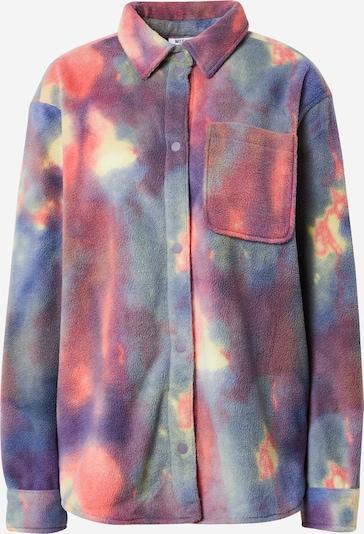WEEKDAY Bluse 'Bess' in pastellgelb / lila / violettblau / dunkellila / melone, Produktansicht