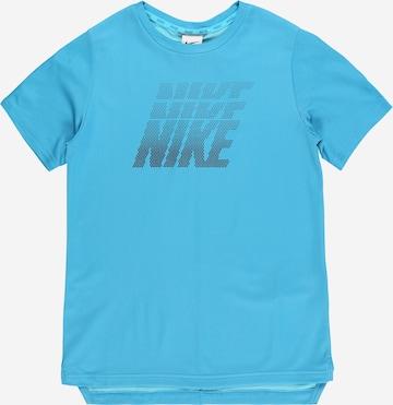T-Shirt fonctionnel NIKE en bleu