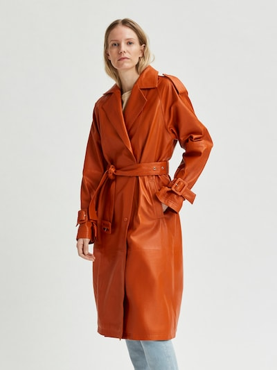 SELECTED FEMME Mantel in dunkelorange, Modelansicht