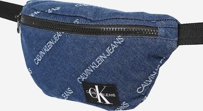 Calvin Klein Jeans Чанта в син деним / черно / бяло, Преглед на продукта