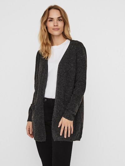 VERO MODA Knit cardigan 'Doffy' in mottled black, View model