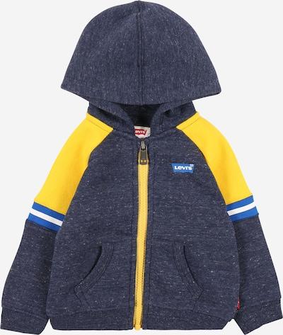 LEVI'S Tepláková bunda - modrá / modrá melírovaná / žltá / biela, Produkt