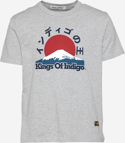 Tricou 'DARIUS' Kings Of Indigo pe bleumarin / azuriu / gri / roși aprins / alb, Vizualizare produs