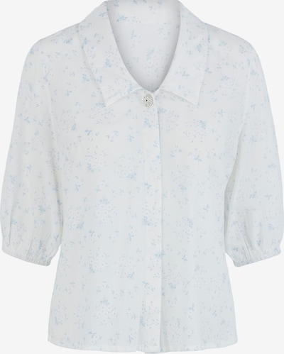 PIECES Bluse in hellblau / weiß, Produktansicht