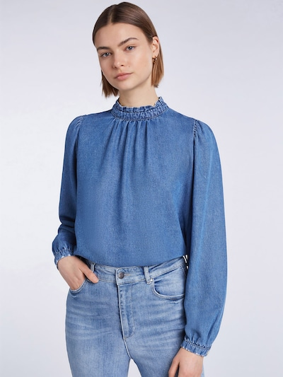 SET Blouse in Blue denim, View model