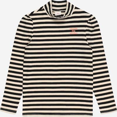 s.Oliver T-shirt i beige / svart: Sedd framifrån