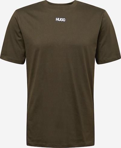 HUGO Majica 'Durned212' | temno modra / temno zelena / bela barva: Frontalni pogled
