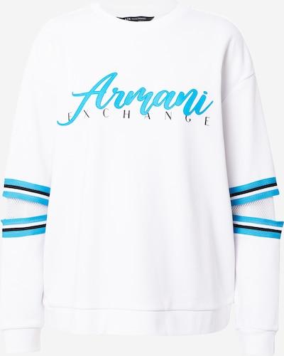 Bluză de molton ARMANI EXCHANGE pe albastru deschis / negru / offwhite, Vizualizare produs