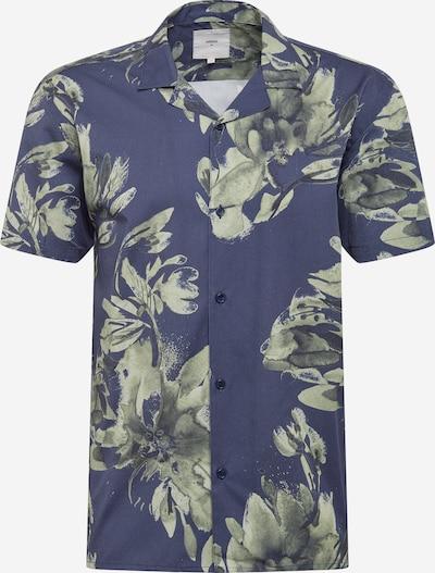minimum Skjorte 'Emanuel' i dueblå / grasgrøn / mørkegrøn, Produktvisning
