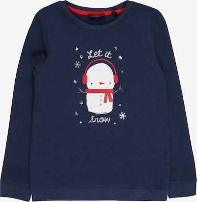 BLUE SEVEN Sweatshirt in navy / grau / rot / silber / weiß, Produktansicht