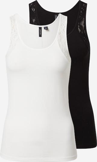 VERO MODA Top 'MAXI' in schwarz / weiß, Produktansicht