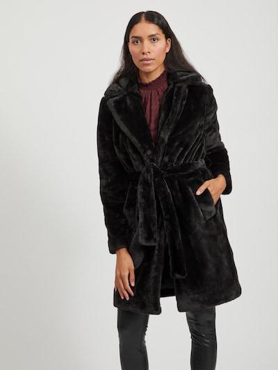 VILA Winter Coat in Black, View model