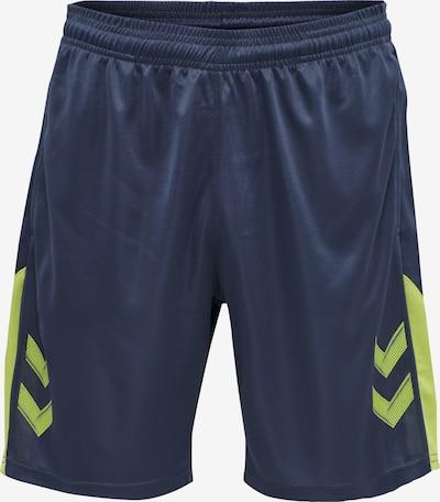 Hummel Sportbroek in de kleur Marine / Limoen, Productweergave