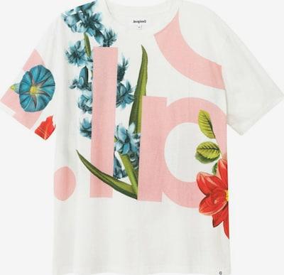 Desigual T-shirt en mélange de couleurs / blanc, Vue avec produit