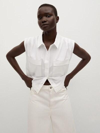 MANGO Bluse 'RITA' in offwhite, Modelansicht