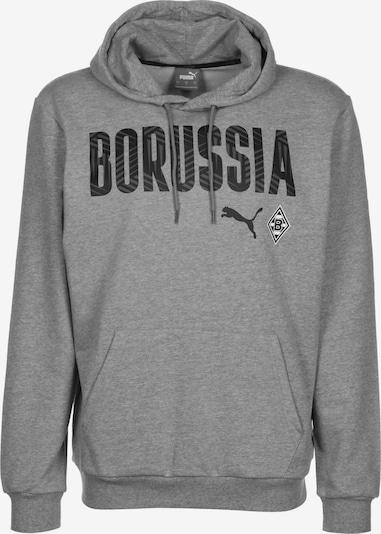 PUMA Sportsweatshirt 'Borussia Mönchengladbach' in de kleur Grijs / Zwart, Productweergave