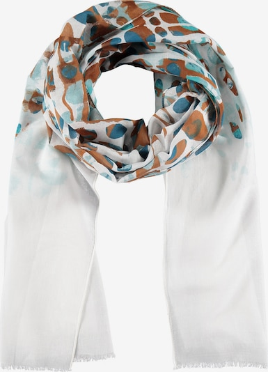 SAMOON Schal in blau / türkis / braun / weiß, Produktansicht