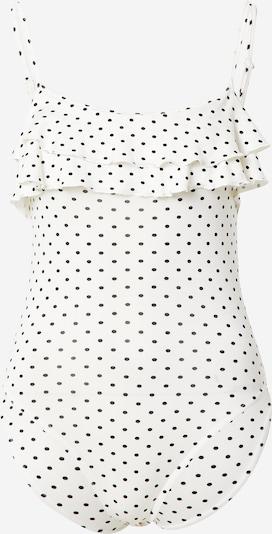 Miss Selfridge (Petite) Shirtbody en noir / blanc, Vue avec produit