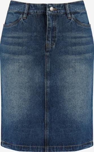 Finn Flare Jeansrock mit geradem Schnitt in blau: Frontalansicht