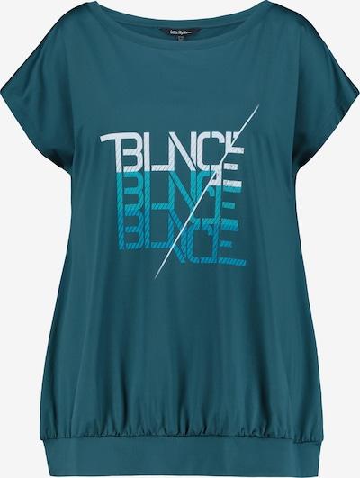 Ulla Popken Shirt in blau / petrol / weiß, Produktansicht