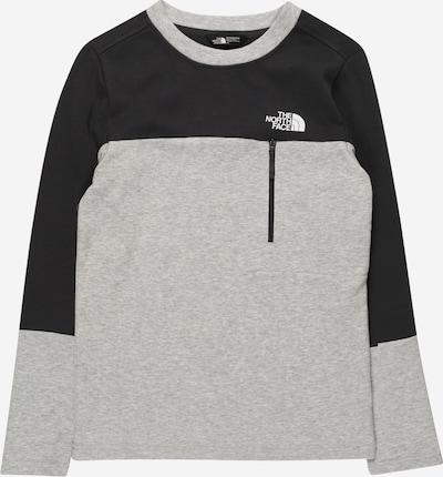 THE NORTH FACE Sportief sweatshirt 'SLACKER' in de kleur Lichtgrijs / Zwart / Wit, Productweergave
