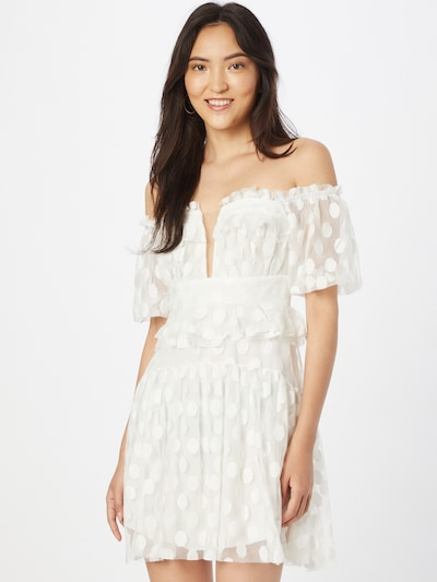 Trendyol Letné šaty - krémová, Model/-ka