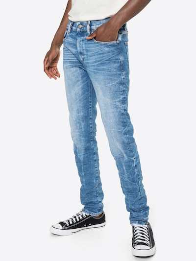 DIESEL Jean 'D-STRUKT' en bleu denim, Vue avec modèle