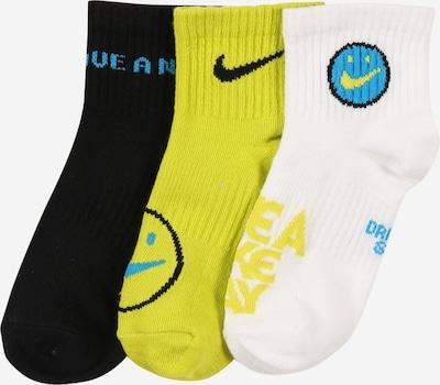 Nike Sportswear Chaussettes 'Everyday' en turquoise / jaune / noir / blanc, Vue avec produit