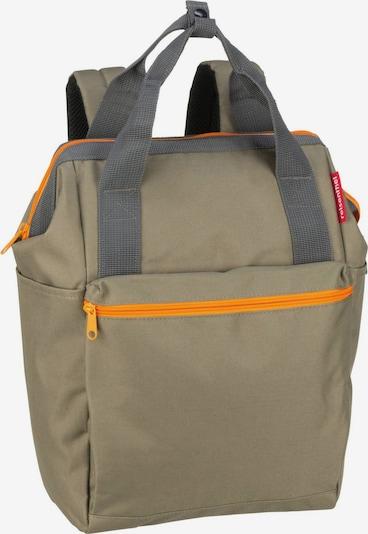 REISENTHEL Rucksack in grau / oliv / orange, Produktansicht