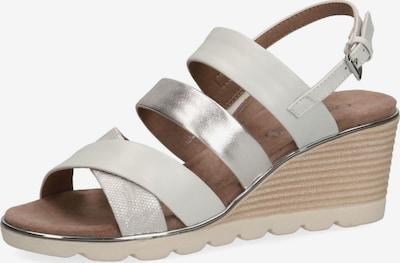CAPRICE Sandale in creme / hellgrau / silber, Produktansicht