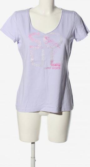 ESPRIT SPORT V-Ausschnitt-Shirt in XL in hellgrau / lila / pink, Produktansicht