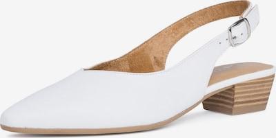 TAMARIS Escarpins à bride arrière en blanc, Vue avec produit