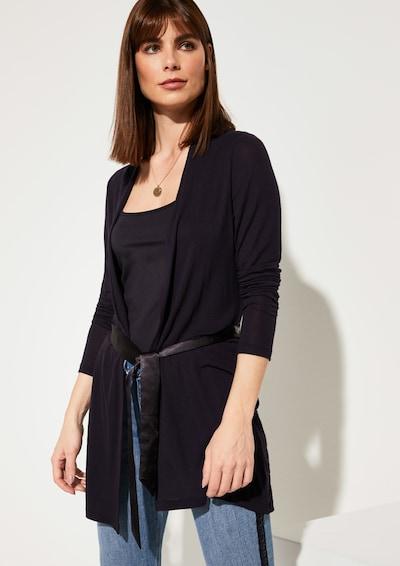 COMMA Shirtjacke in schwarz: Frontalansicht