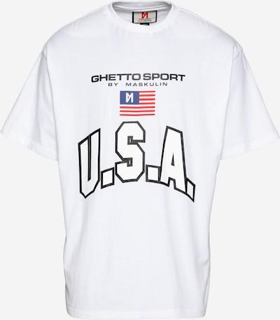 MASKULIN T-Shirt 'Oskar' in blau / rot / schwarz / weiß, Produktansicht