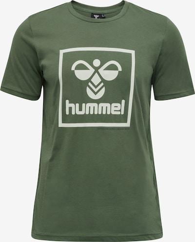 Hummel T-Shirt in khaki / weiß, Produktansicht