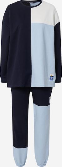 Trendyol Joggingpak in de kleur Lichtblauw / Donkerblauw / Wit, Productweergave