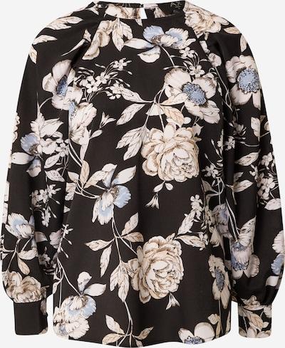 Bluză AX Paris pe maro cămilă / albastru deschis / negru / alb natural, Vizualizare produs