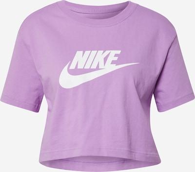 Nike Sportswear T-shirt en violet / blanc, Vue avec produit
