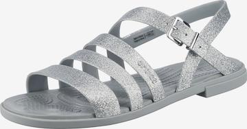 Crocs Strap Sandals in Silver