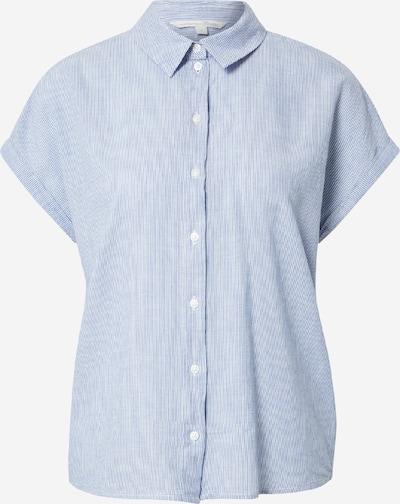 TOM TAILOR DENIM Blouse in de kleur Blauw / Wit, Productweergave
