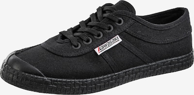 KAWASAKI Klassischer Sneaker im coolen Retrodesign in schwarz: Frontalansicht