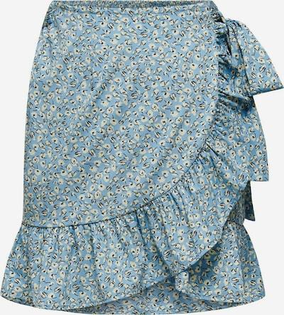 ONLY Rok 'ONLOLIVIA' in de kleur Lichtblauw / Zwart / Wit, Productweergave
