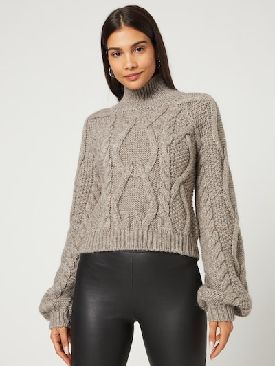 Guido Maria Kretschmer Collection Pullover 'Maike' in greige: Frontalansicht
