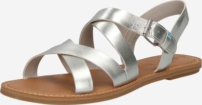 TOMS Sandale 'SICILY' in silber, Produktansicht