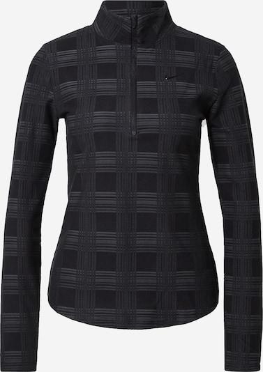 NIKE Functioneel shirt in de kleur Grijs / Zwart, Productweergave