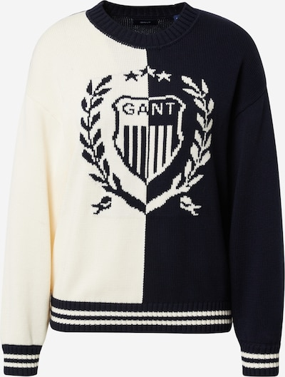 Megztinis 'CREST' iš GANT , spalva - tamsiai mėlyna / natūrali balta, Prekių apžvalga
