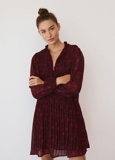 MANGO Kleid 'Pliti' in rot / schwarz, Modelansicht