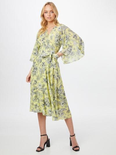 PINKO Kleid 'VOLA ALTO' in pastellgelb / dunkelgrün / schwarz / weiß, Modelansicht
