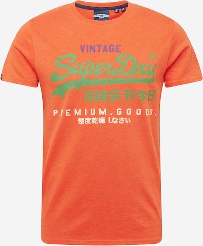 Superdry Shirt in de kleur Lichtgroen / Lila / Sinaasappel / Wit, Productweergave