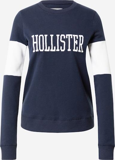 HOLLISTER Sweater majica u mornarsko plava / bijela, Pregled proizvoda